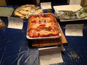 Moisturize Me Lasagna from my Doctor Who 50th Anniversary Party