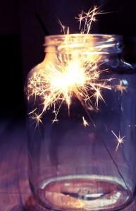 Sparklers in Mason Jars