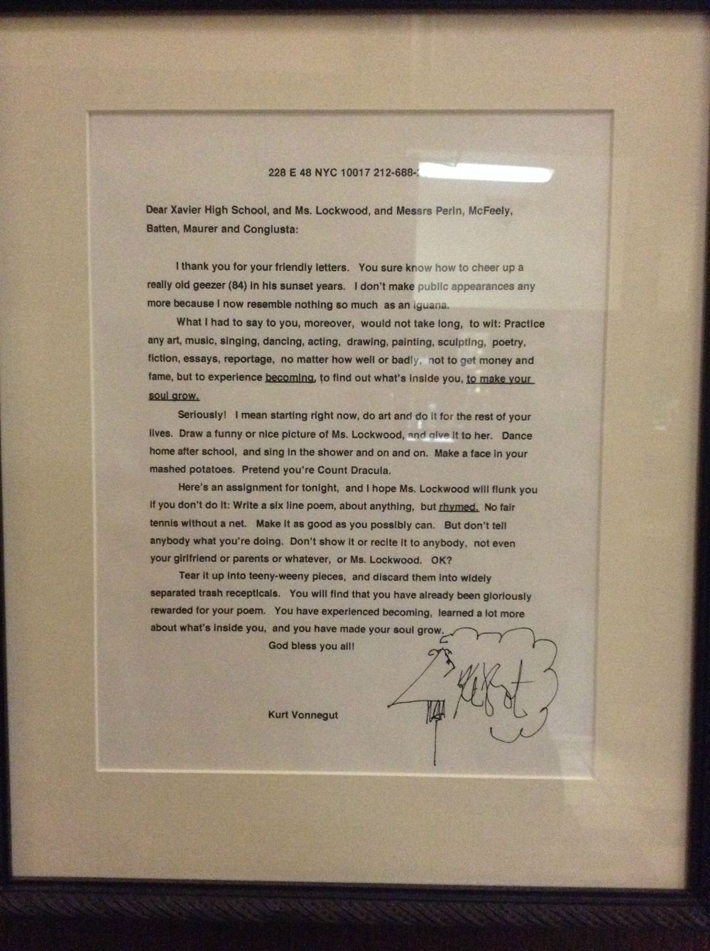 Students Asked Their Favorite Authors to Visit. Kurt Vonnegut was the Only one who Responded