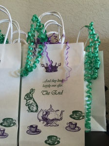 Mad Hatter Bridal Shower Gift Bags