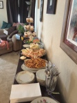 Mad Hatter Bridal Shower Buffet Table