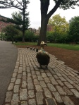 Make Way for Ducklings, Boston Public Gardens, Boston MA