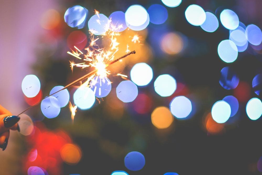 sparklers - stock photo