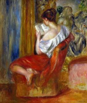 renoir reading woman