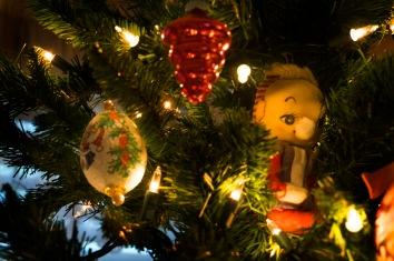 Great Grandma Kanelakos's red ornament & Mom's childhood elf